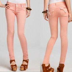 Hudson Collin Skinny Peach flap pocket jeans 28